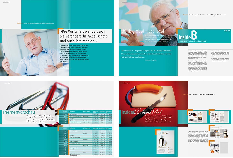 imagebroschre zur einfhrung des neuen konzeptes des wirtschaftsmagazins inside b 32 seiten - Imagebroschure Beispiele