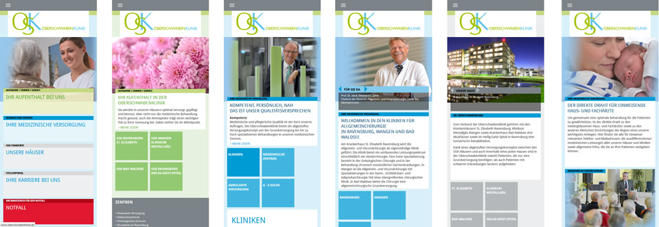 Oberschwabenklinik Website